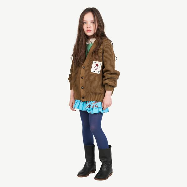 Boys & Girls Dark Green Cotton Cardigan