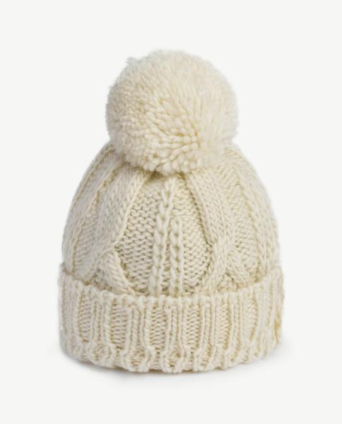 Boys & Girls White Wool Hat