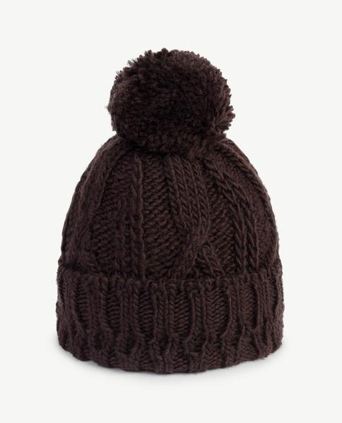 Boys & Girls Dark Brown Wool Hat