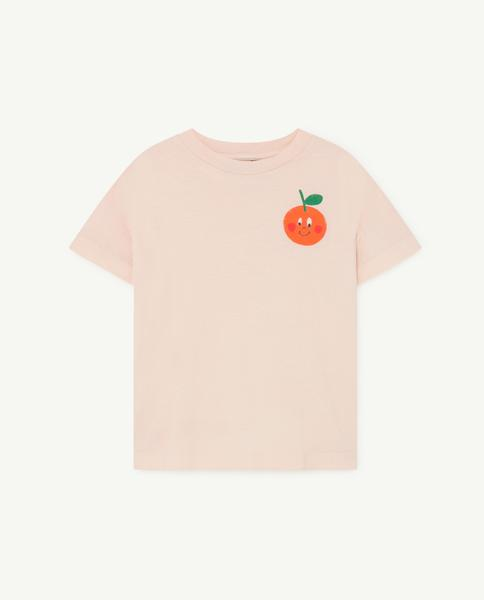 Boys & Girls Pink Cotton T-shirt