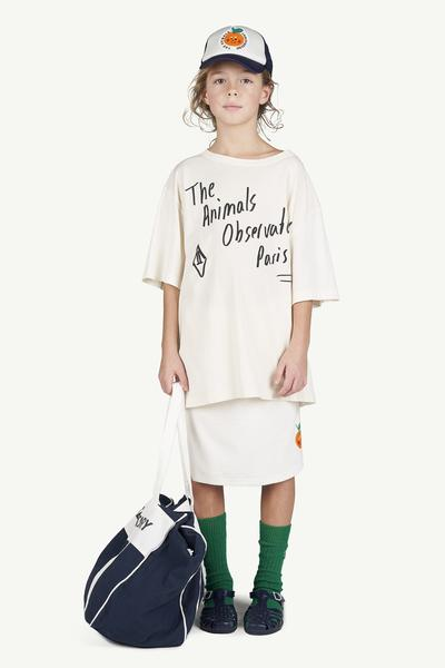 Boys & Girls White Logo Cotton T-shirt