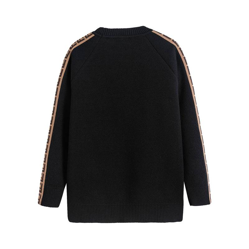 Boys & Girls Black FF Vrigin Wool Sweater