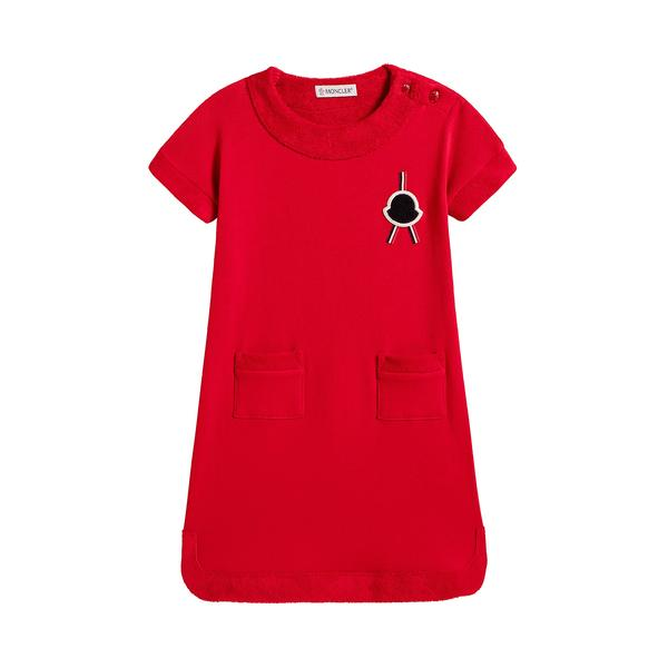 Baby Girls Red Cotton Dress