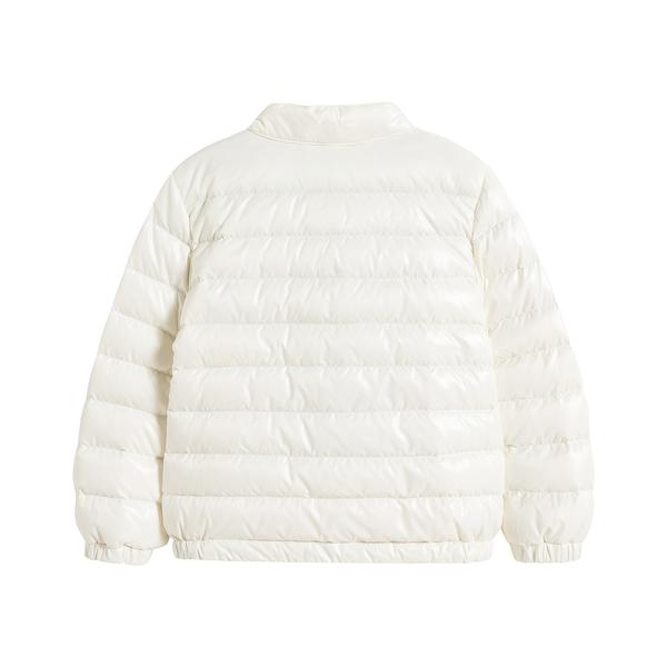 Baby Boys White 'ALIPOS BIKER' Padded Down Jacket