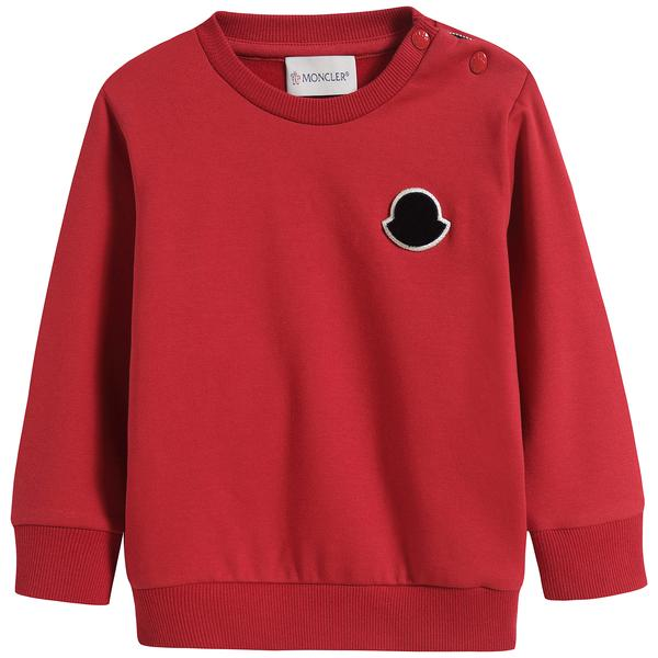 Baby Boys Red Logo Sweatshirt