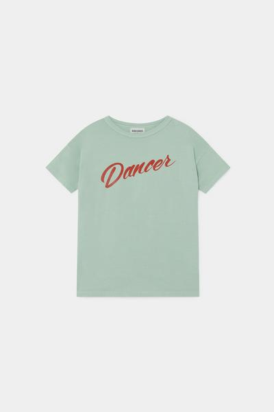 Boys Green Dancer Cotton T-shirt