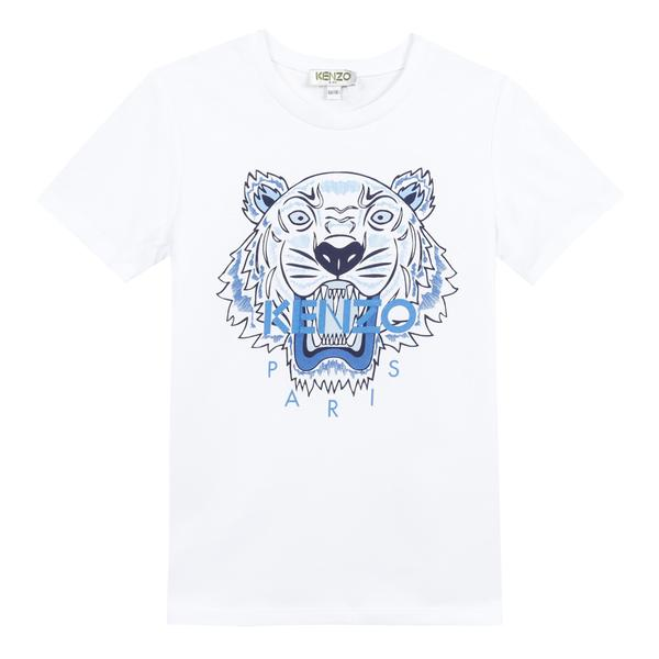 Boys Optic White Cotton T-shirt