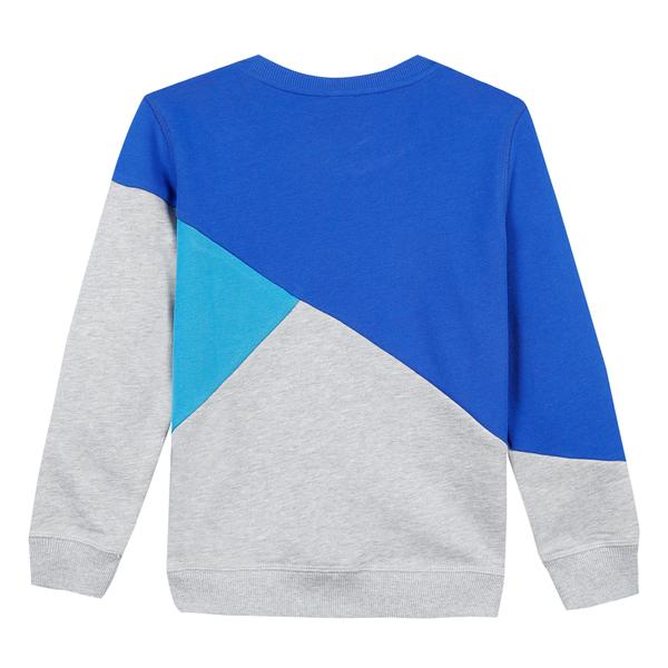 Boys Blue & Grey Logo Cotton Sweatshirt