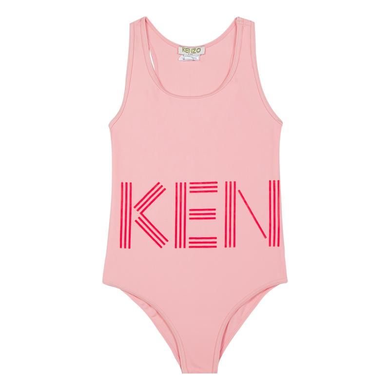 Girls Middle Pink Logo Swimwear
