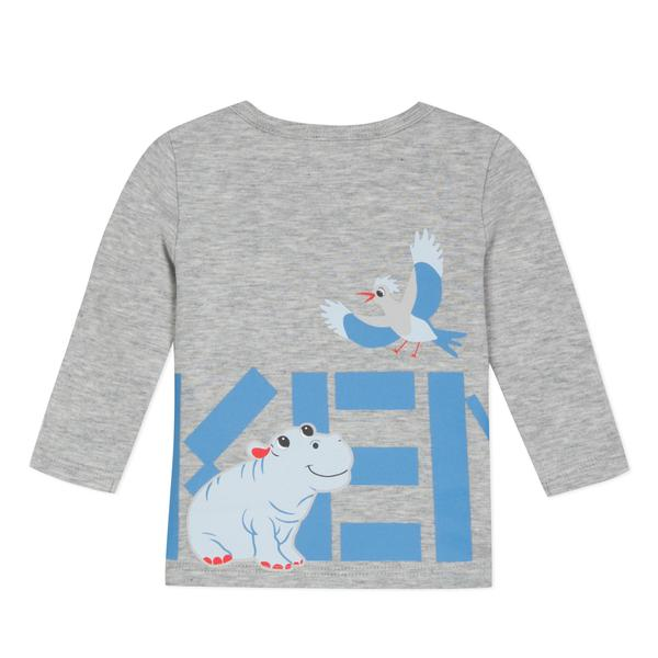 Baby Boys Grey Printing Cotton T-shirt