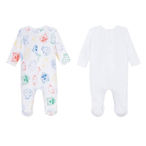 Baby Boys & Girls White Cotton Babysuit Gift Set