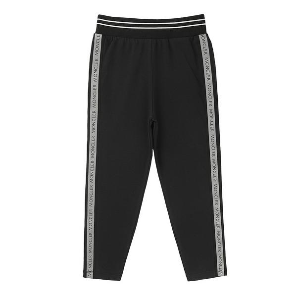 Baby Girls Black Cotton Trousers