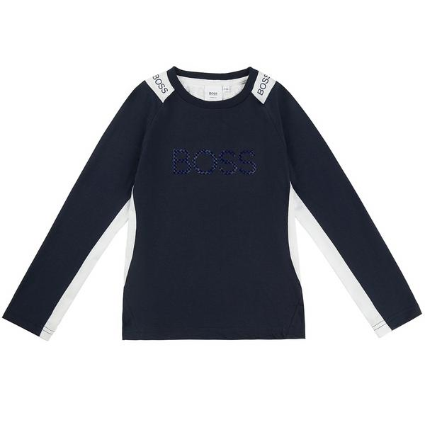 Boys Blue Logo Top
