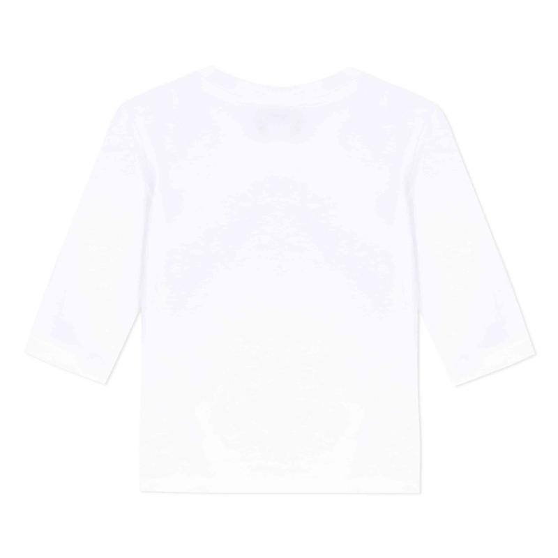 Baby Boys Optic White Tiger Cotton T-Shirt