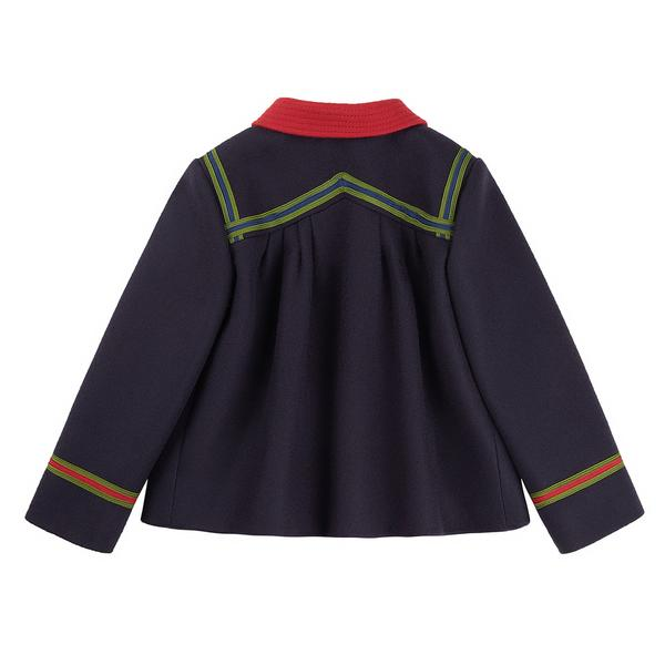 Baby Girls Blue Wool Coat