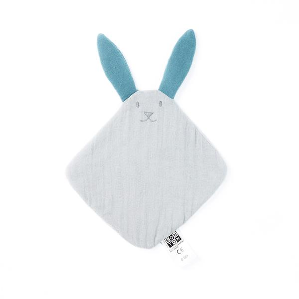 Baby Boys & Girls Light Grey Rabbit Bibs