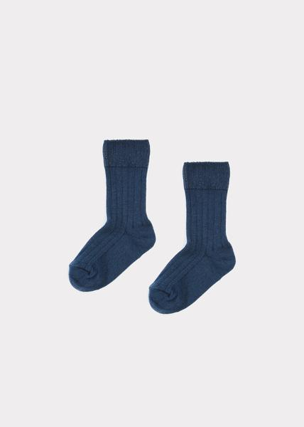 Baby Boys Blue Cotton Socks