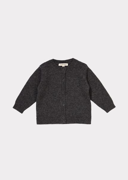 Baby Boys Dark Grey Cashmere Cardigan