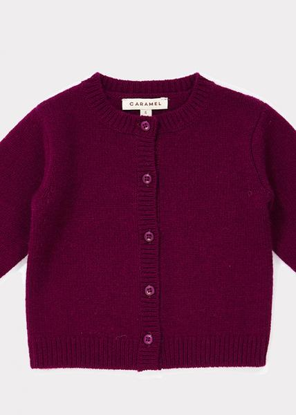 Baby Boys Dark Red Cashmere Cardigan