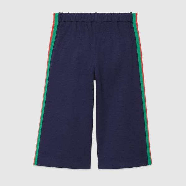 Girls Navy Blue Cord Trousers