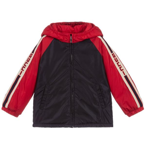 Baby Boys Blue & Red Lightweight Jacket