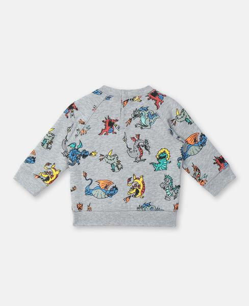 Baby Boys & Girls Grey Printing Cotton Sweater
