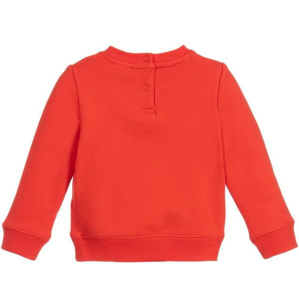 Baby Boys Red Cotton Sweatshirt