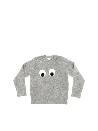Girls Grey Eye Top