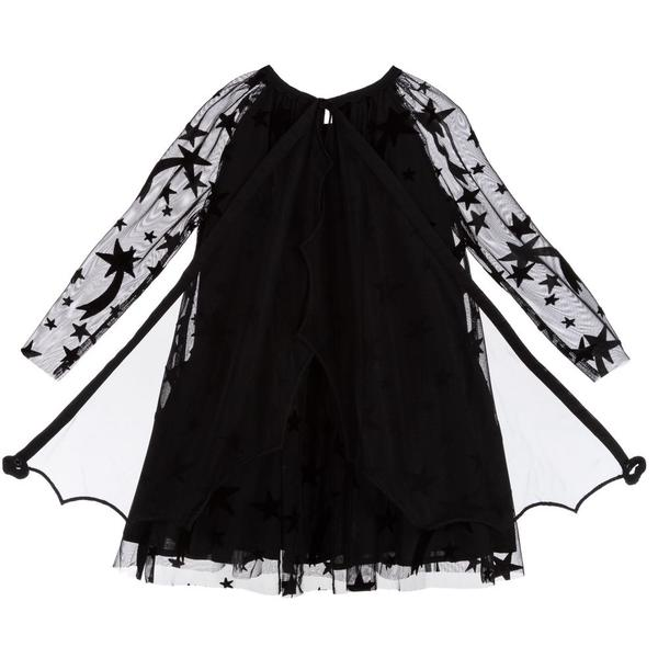 Girls Black Tulle Dress with Wings