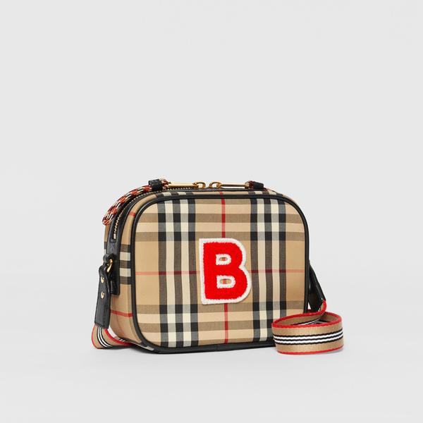 Girls Archive Beige Vintage Check Bag