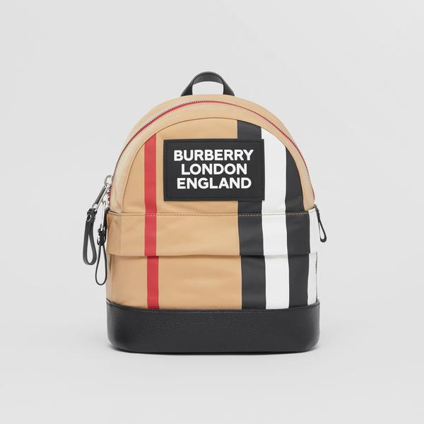 Boys & Girls Archive Beige Logo Backpack