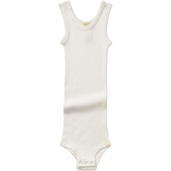 Baby Boys & Girls White Silk Babysuit