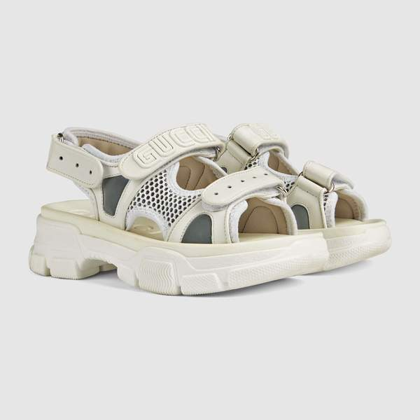 Boys & Girls White Leather Sandals