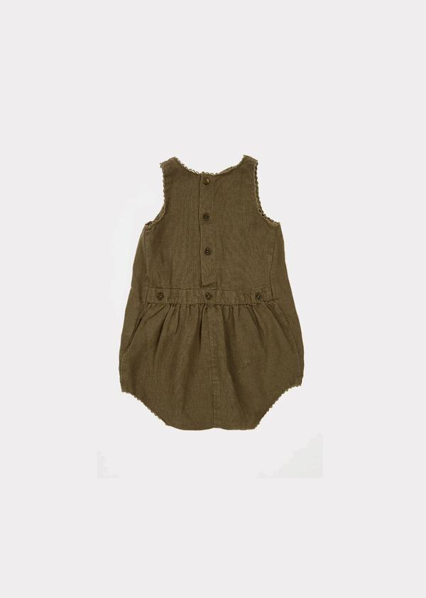 Baby Girls Dark Green Babysuit