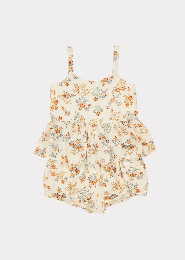 Girls Light Yellow Flowers Set