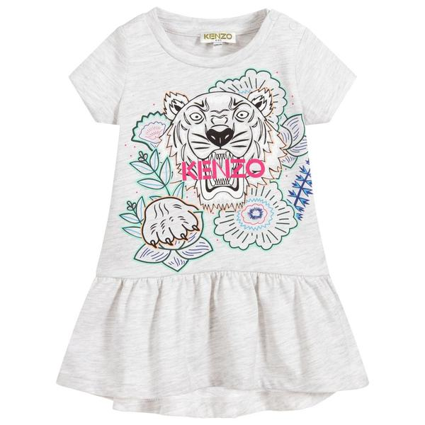 Baby Girls Grey Tiger Dress