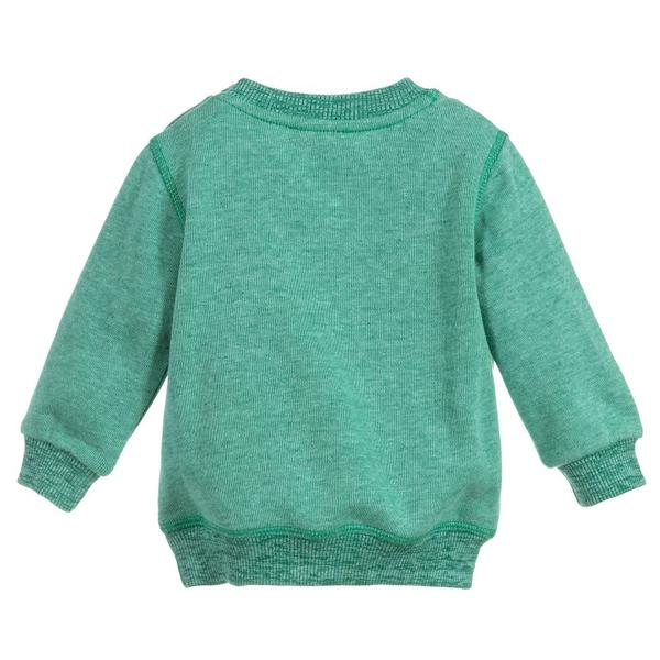 Baby Boys Green Tiger Cotton Sweatshirt