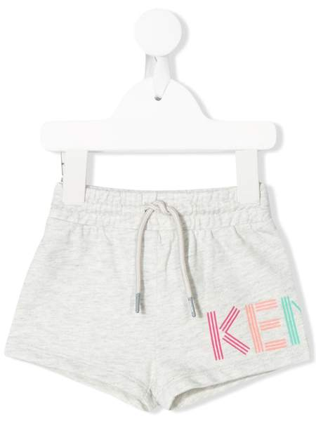 Baby Girls Grey Logo Cotton Shorts