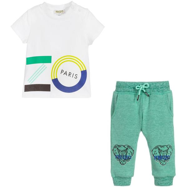 Baby Boys Logo Cotton Set