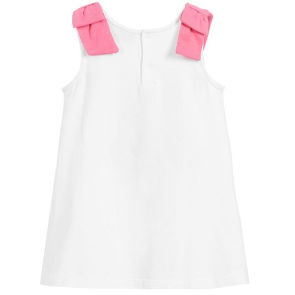 Baby Girls White Butterfly Cotton Dress