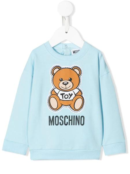 Baby Boys & Girls Blue Cotton Sweatshirt