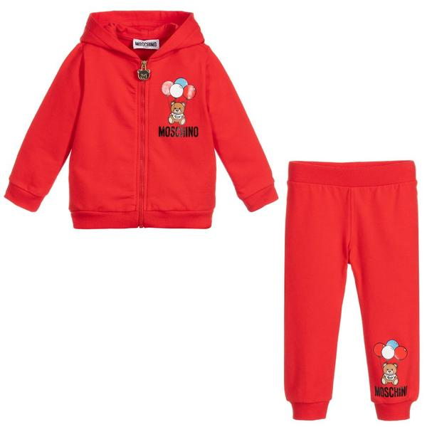 Baby Boys & Girls Red Cotton Set