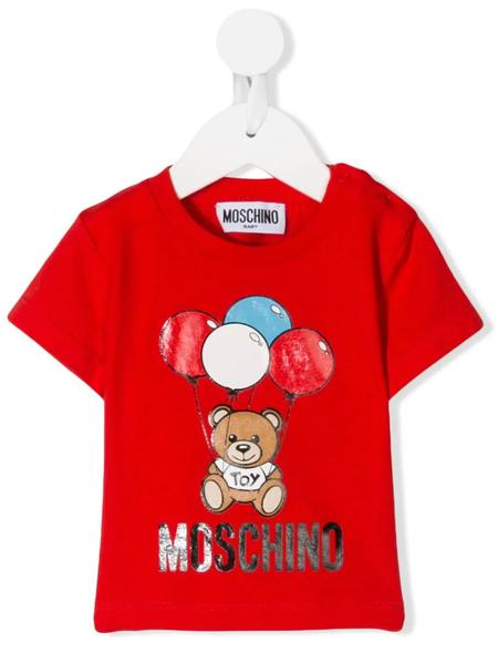 Baby Boys & Girls Red Cotton T-shirt