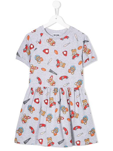 Girls Grey Cotton Dress