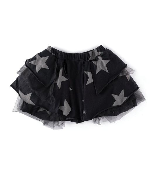 Girls Black Star Tulle Skirt