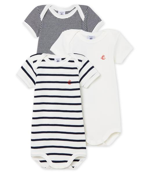 Baby Boys & Girls White & Black Cotton Sets