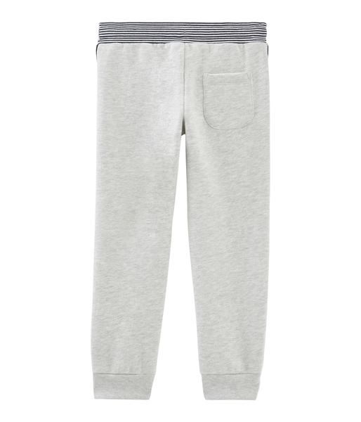 Boys Offwhite Cotton Trousers