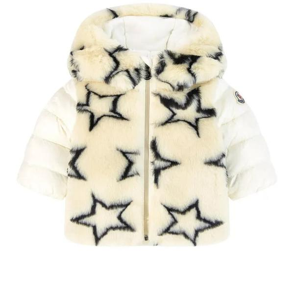 Baby Girls Charcoal Stars Padded Coat