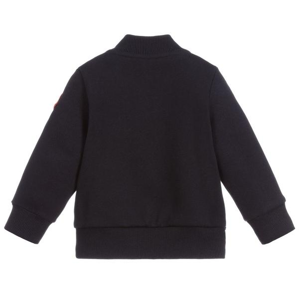 Baby Boys Navy Padded Down Sweatshirt