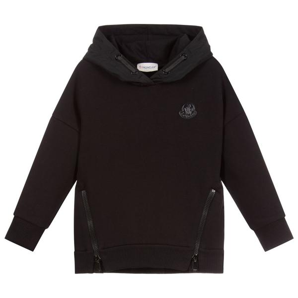 Boys & Girls Black Cotton Sweatshirt